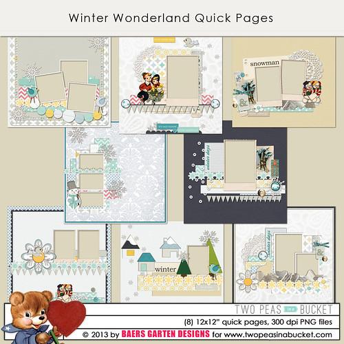 Winter Wonderland Quick Pages