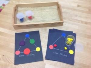 Playdoh Color Mixing (Photo from Trillium Montessori)