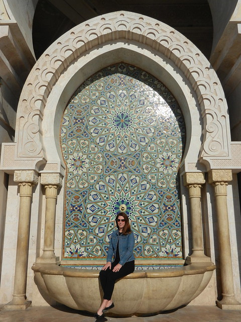 me at Grand Mosquée Hassan II