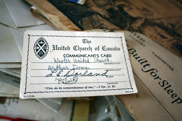 The United Church of Canada Communicant's Card