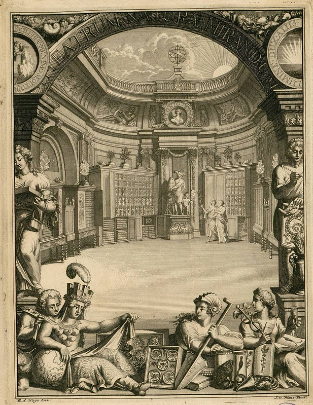 18th century Dutch book engraving frontispiece