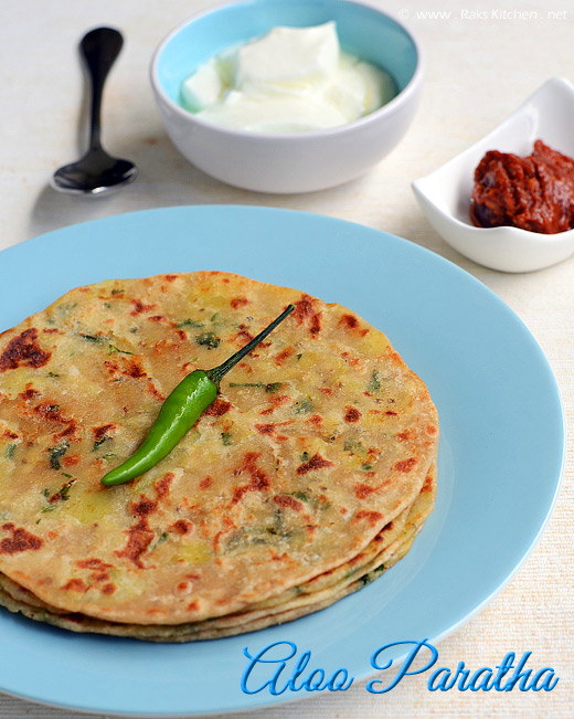 Aloo paratha with tomato garlic chutney side dish raks kitchen aloo paratha recipe forumfinder