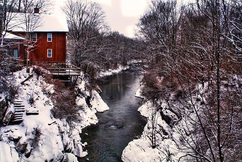 trees winter house building river vermont vt poultney landscaep mygearandme