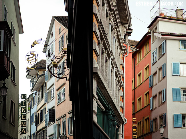 Colorful Buildings in Zurich Switzerland | Travel Photography