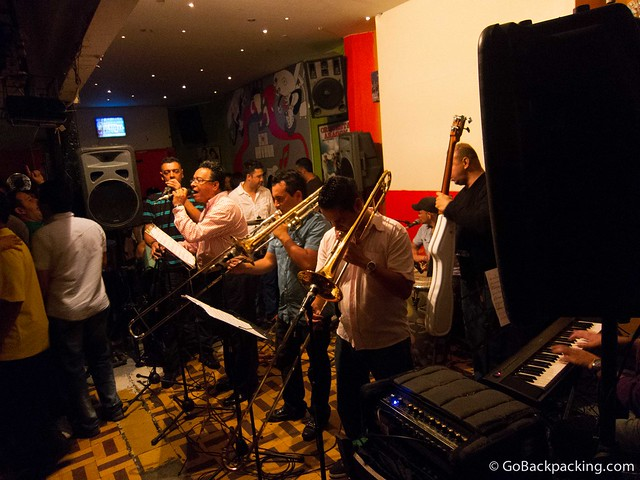 The live salsa band at Son Havana