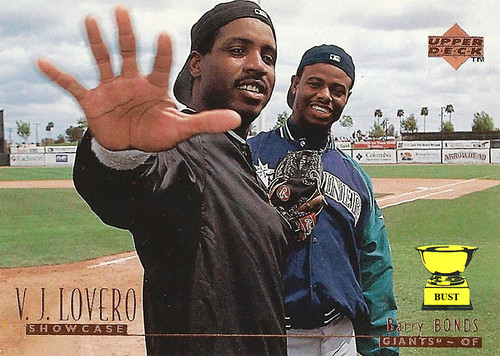 0b800129f3 Barry Bonds (and Ken Griffey Jr.), 1996 Upper Deck (V.J. Lovero Showcase  Week No. 1)