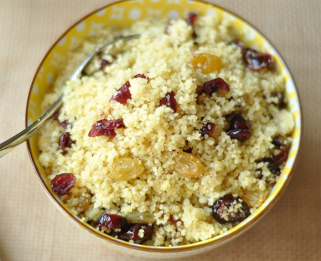 Couscous with Golden Raisins and Dried Cranberries