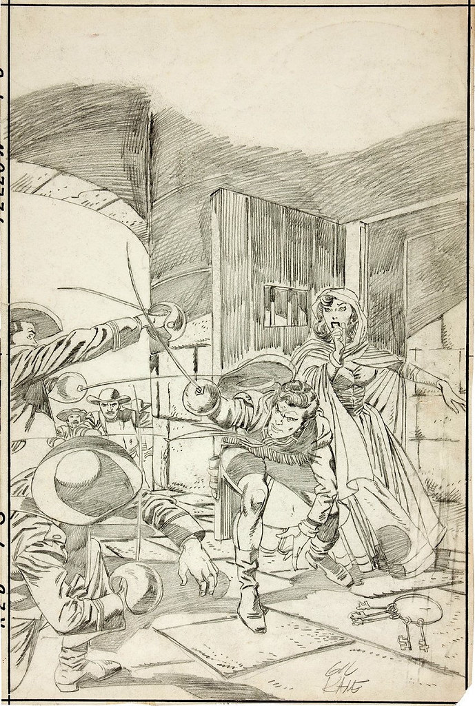 Gil Kane All-American Western #122 Detailed Cover Pencils
