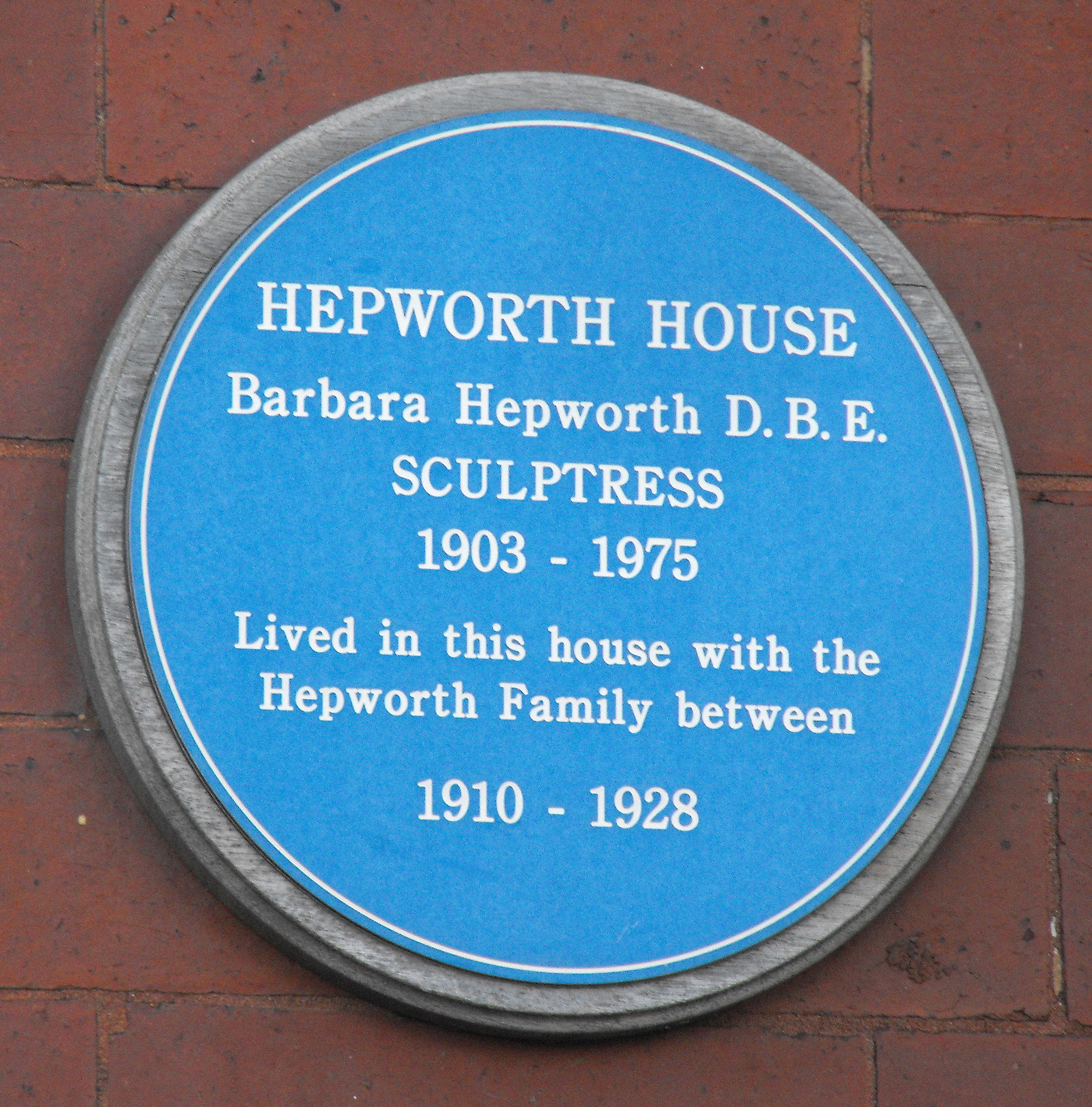 Hepworth plaque