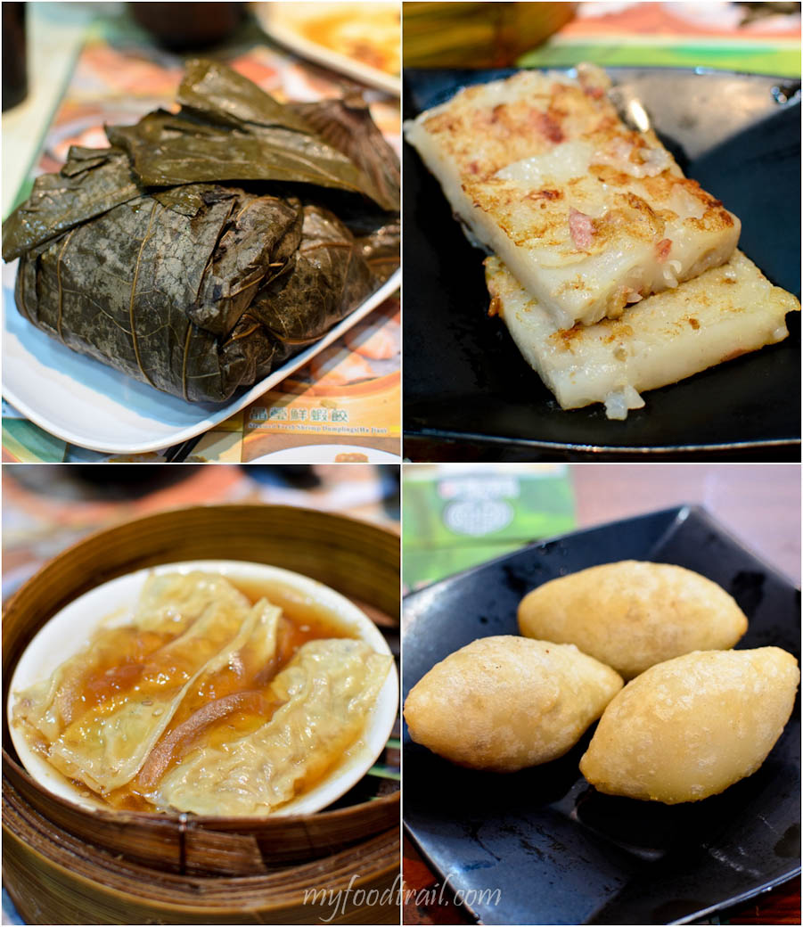 Tim Ho Wan, Mongkok, Hong Kong - Lor mai gai, radish cake, crescent dumplings, beancurd wrapped pork