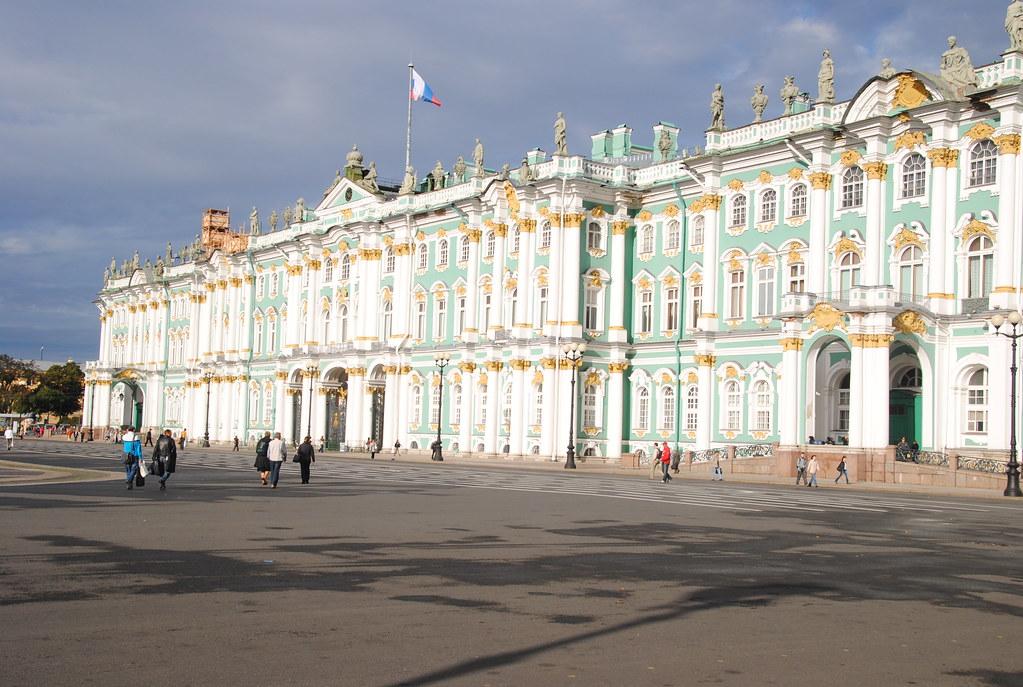 Hermitage Museum enterance on square