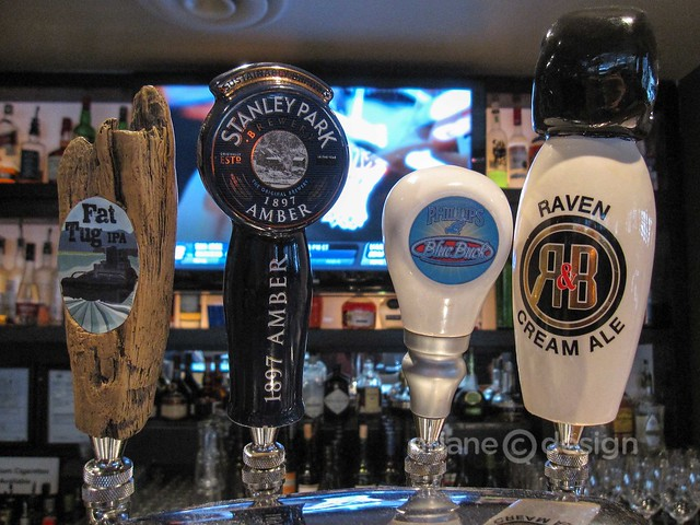 Partial craft beer selection on tap