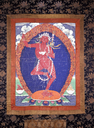 002-El Vajravarahi Dakinis. Pintado en textil.-comienzos del siglo XVI-© The Trustees of the British Museum