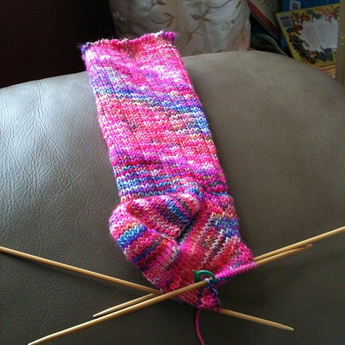 Finished turning the heel