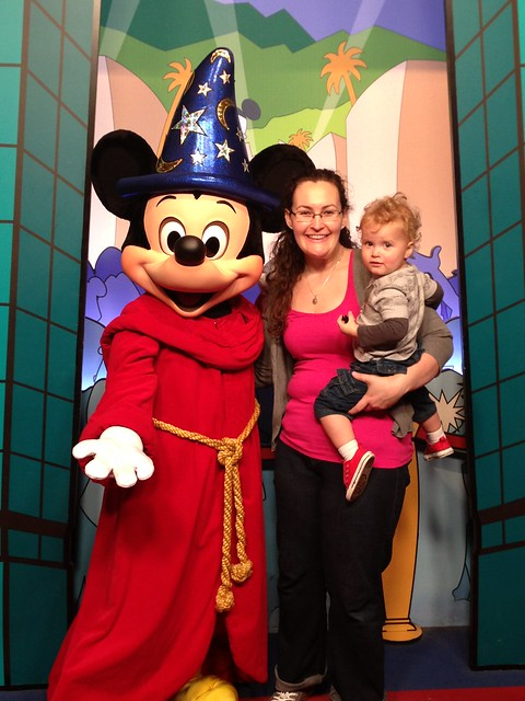 Me, George, and Sorcerer Mickey.