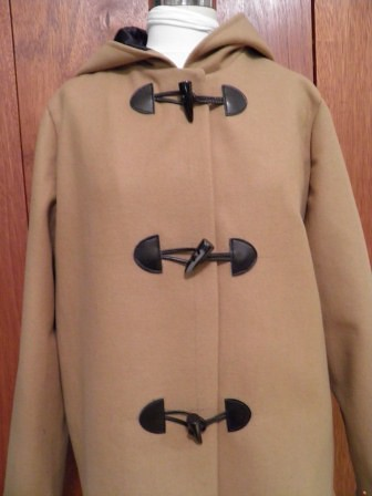 Duffle Coat with toggles - front