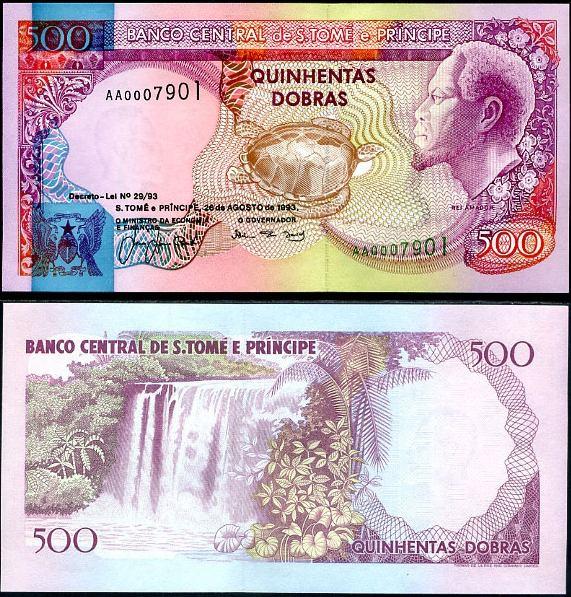 500 Dobras Svätý Tomáš a Princov ostrov 1993, Pick 63