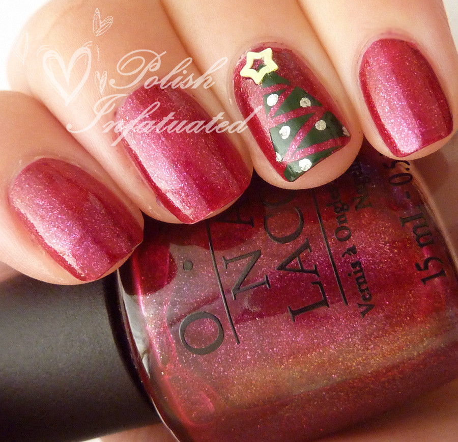 festive christmas tree nails4