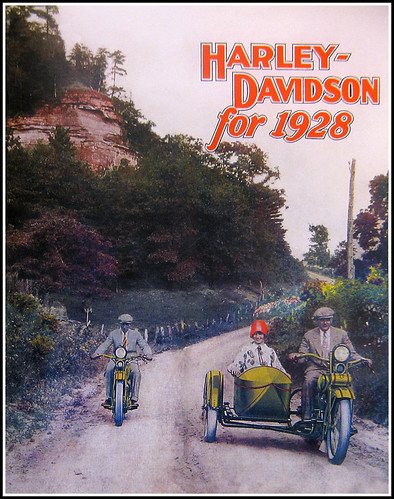1928 Harley Davidson cataloge cover by bullittmcqueen