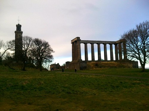 The National Monument & Nelson Monument on Edinburgh's Calton Hill