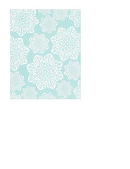 portrait A2 card size JPGbatik flower Snowflakes various sizes SMALL SCALE