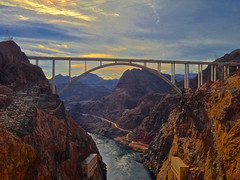 Bridge over the Colorado River at Hoover Dam