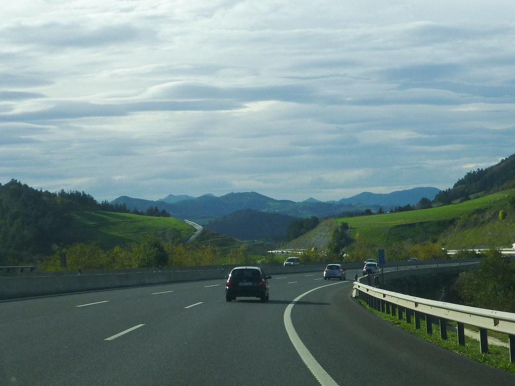 Estrada para San Sebastián - Espanha