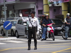 Ipoh Police directing traffic #2