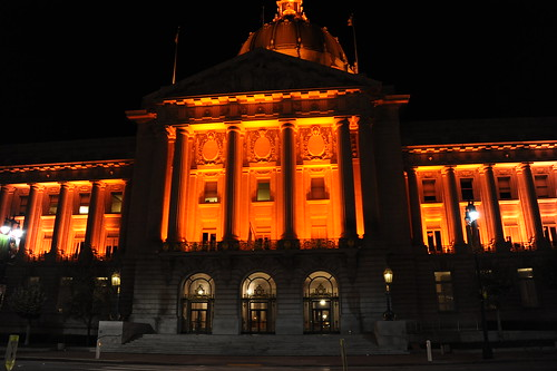 Giants colored City Hall