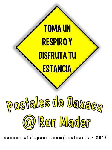 Toma un respiro y disfruta tu estancia: Tarjetas Postales de Oaxaca