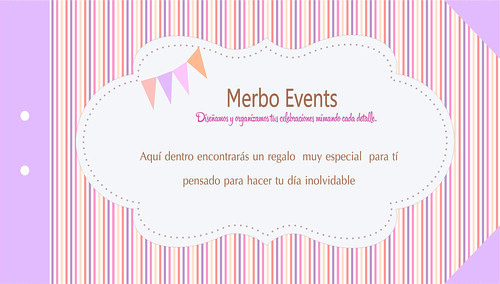 Cheque Regalo Portada. Merbo Events