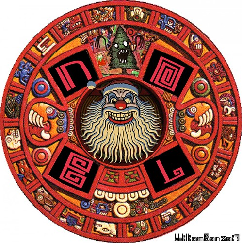 SCARY MAYAN WREATH CALENDAR by Colonel Flick/WilliamBanzai7