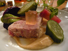 Pork terrine with pickles