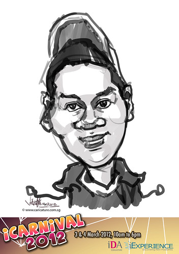 digital live caricature for iCarnival 2012  (IDA) - Day 2 - 62
