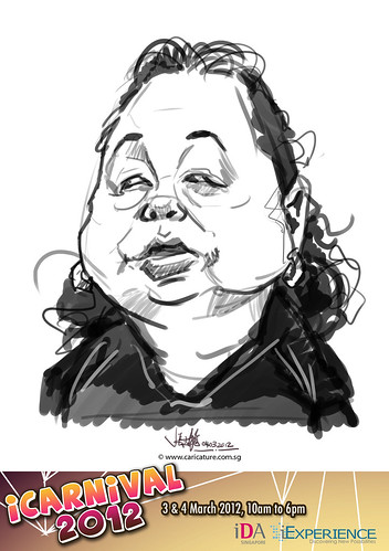 digital live caricature for iCarnival 2012  (IDA) - Day 2 - 31