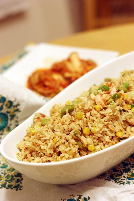鮭魚炒飯 Salmon Fried Rice 1