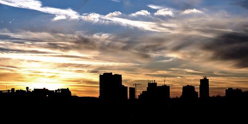 sunset sky sun ontario canada london silhouette skyline nikon londonontario d800 105mm nikond800