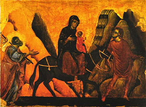 Image result for holy family flight to egypt