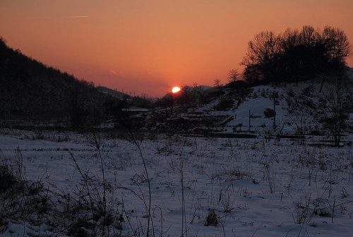 winter sunset sky mountain snow nature night landscape cannon 옥천 동형 pwpartlycloudy
