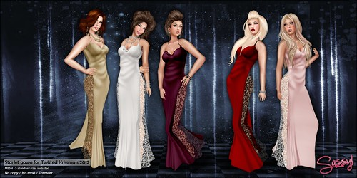 Starlet gown for Twisted Krissmuss 2012