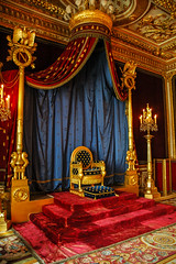 building, palace, interior design, throne,