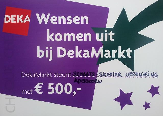 3e prijs DEKA-markt actie 500 euro
