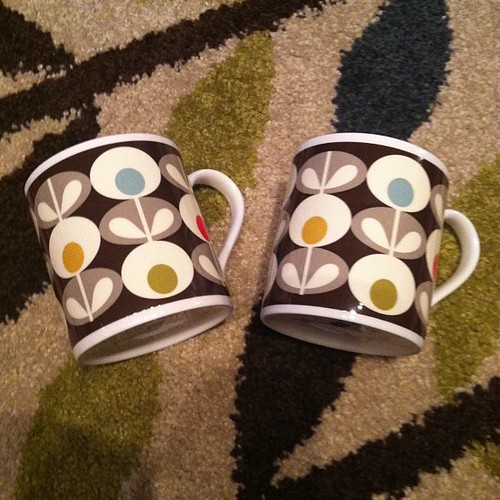 Orla Kiely mugs ... One of my favorite Christmas gifts from my husband
