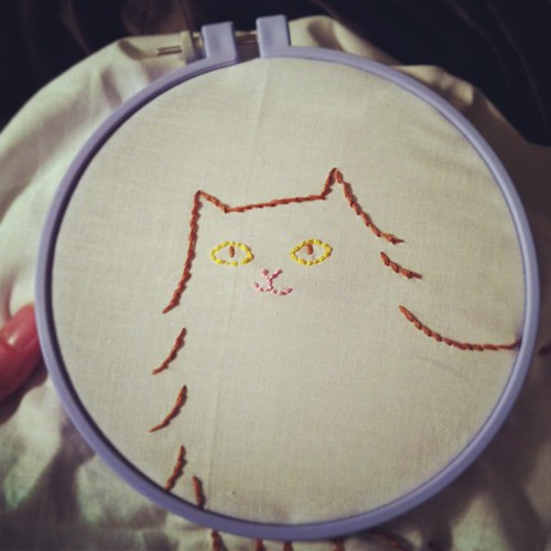 Cat embroidery!