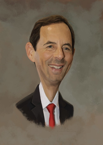 digital caricature of Gido van Praag for Hewlett Packard (revised)