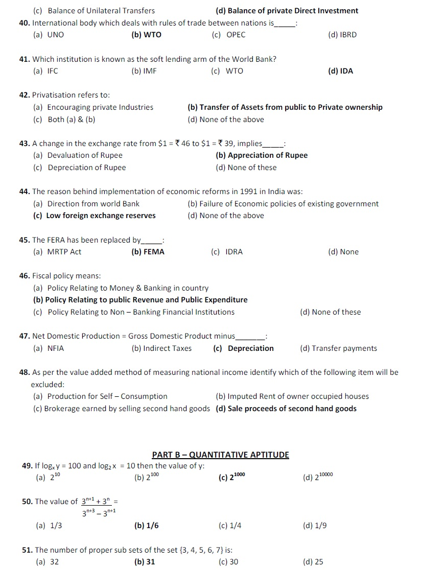 cpt previous year question papers pdf with answers
