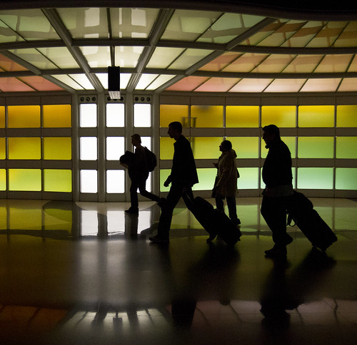 Travelers at an airport