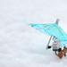 Umbrella against white by Kalexanderson