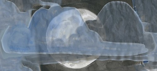 long night moon with clouds by Bricoleur's Daughter