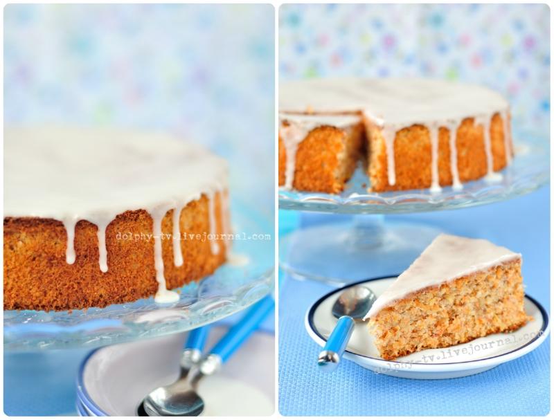 Torta di carote / Морковный пирог с миндалем